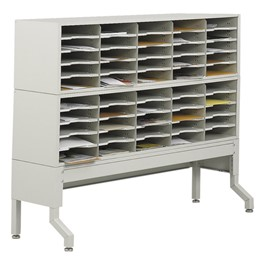 E-Z Sort Mail Filing Station (50 Compartments)