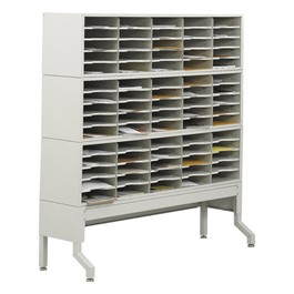 E-Z Sort Mail Filing Station (75 Compartments)