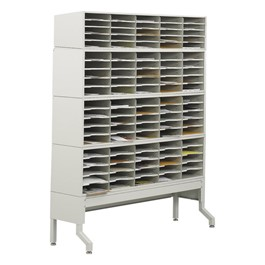 E-Z Sort Mail Filing Station - 100 Compartments shown