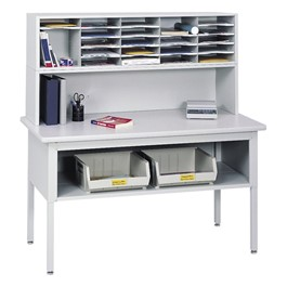 E-Z Sort Mail Sorting Station (Table, Riser & One Sorter)