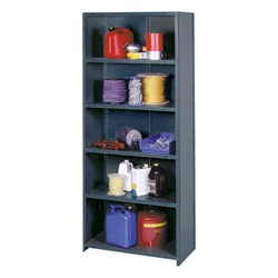"HeviLoad Plus II Series Industrial Grade Shelving - Closed Back<br>12"" D unit shown"