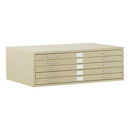 Five-Drawer Steel Flat File Cabinet