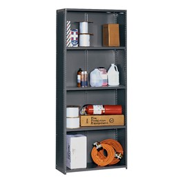 """FeatureLine Series Commercial Grade Shelving - Closed Back<br>Shown 12\""""D"""