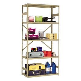 FeatureLine Series Commercial Grade Shelving - Open shelving shown