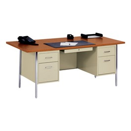 "500 Series Double-Pedestal Teacher Desk (36"" D x 72\"" W)"