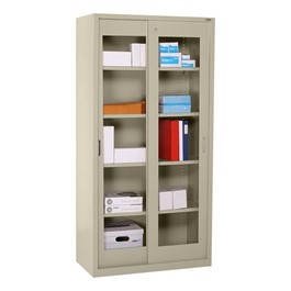 Clear View Sliding Door Storage Cabinet