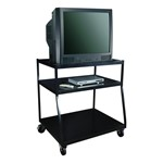 Steel Wide-Body TV Monitor Cart