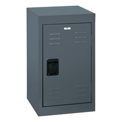 Single-Tier Mini Locker - shown in charcoal