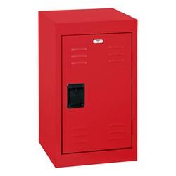 Single-Tier Mini Locker - shown in red