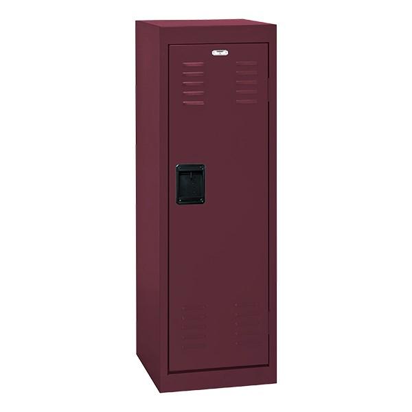 Single-Tier Child Locker - shown in burgundy