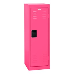 Single-Tier Child Locker - shown in pink