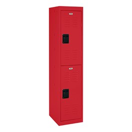 """One-Wide Double-Tier Storage Lockers (30\"""" H Openings) - shown in red"""