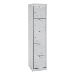 "One-Wide Five-Tier Storage Lockers (11"" H Openings) - shown in multi granite"