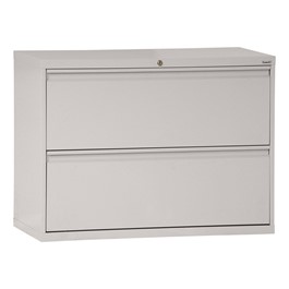 Full-Pull Lateral Filing Cabinet w/ Two Drawers