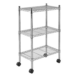 """Mobile Chrome Wire Shelving (22\"""" W x 13\"""" D x 33\"""" H)"""