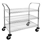 Chrome Wire Cart