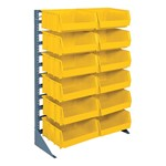 Single-Sided Rack w/ Stackable Bins - Shown w/ 12 bins