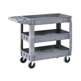 Plastic Utility Cart w/ Three Shelves