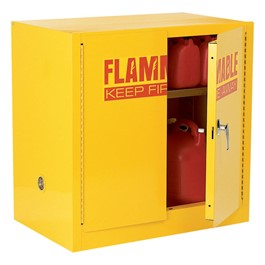 Compact Flammable Liquids Safety Cabinet 22 Gallon Capacity