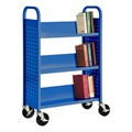 Single-Sided Sloped-Shelf Book Truck
