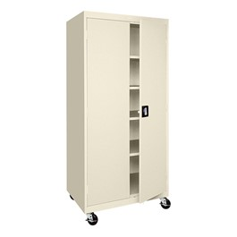 Transport Series Double-Door Mobile Storage Cabinet