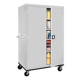 Transport Series Double-Door Mobile Storage Cabinet