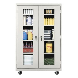 Clear View Series Rolling Storage Cabinet