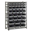 Bin Shelving w/ Assorted Bin Sizes