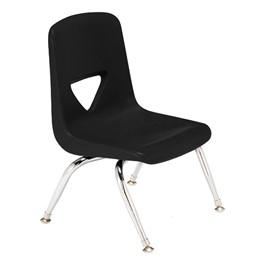 "120 Series Polyethylene Stack Chair - 9 1/2\"" Seat Height - Black"