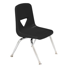 "120 Series Polyethylene Stack Chair - 11 1/2"" Seat Height - Black"