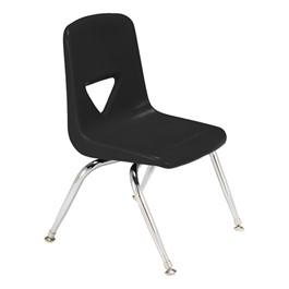 "120 Series Polyethylene Stack Chair - 11 1/2\"" Seat Height - Black"
