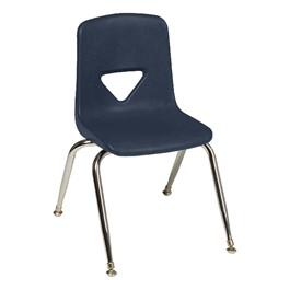 "120 Series School Chair - 18 1/2"" Seat Height - Navy"