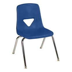 120 Series Polyethylene Stack Chair - Primary blue