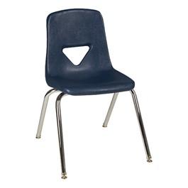 120 Series Polyethylene Stack School Chair - Navy