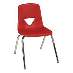 120 Series Polyethylene Stack Chair - Primary red