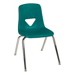120 Series Polyethylene Stack Chair - Teal