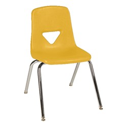 120 Series Polyethylene Stack Chair - Primary yellow