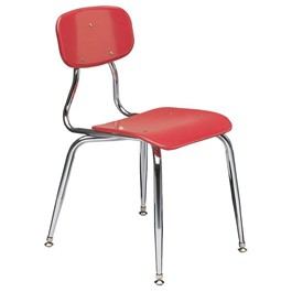 150 Series Solid Plastic Classroom Chair - Fixed Height - Cranberry