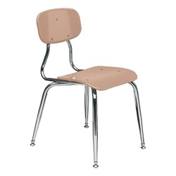 150 Series Solid Plastic Classroom Chair - Fixed Height - Beige