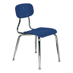 150 Series Solid Plastic Classroom Chair - Fixed Height - Blue