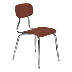 150 Series Solid Plastic Classroom Chair - Fixed Height - Brown
