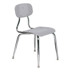 150 Series Solid Plastic Classroom Chair - Fixed Height - Light Gray