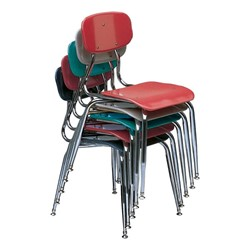 150 Series Solid Plastic Classroom Chair - Fixed Height - Multiple units shown stacked