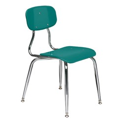 150 Series Solid Plastic Classroom Chair - Fixed Height - Teal