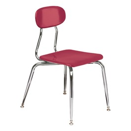 180 Series Solid Plastic Stack Classroom Chair - Red