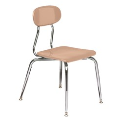 180 Series Solid Plastic Stack Chair - Beige