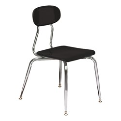 180 Series Solid Plastic Stack Chair - Black