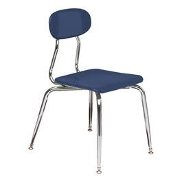 Scholar Craft-SO 180 Series Blue Solid Plastic School Chair - 15 1/2 ...