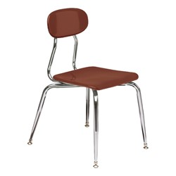 180 Series Solid Plastic Stack Chair - Brown
