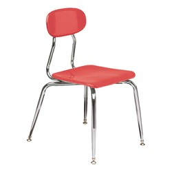 180 Series Solid Plastic Stack Chair - Cranberry